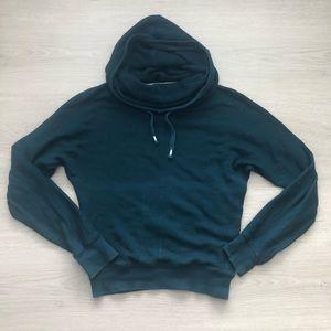 TNA | Green Extra Long Turtleneck Hood Sweatshirt
